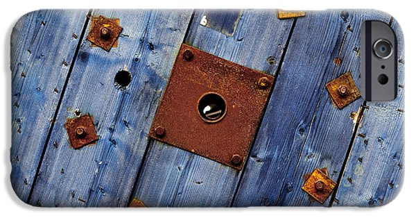 Industrial Pyrography iPhone Cases - Industrial texture as a background iPhone Case by Oliver Sved