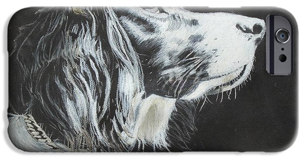 Black Dog iPhone Cases - Intent iPhone Case by Jeanne Fischer