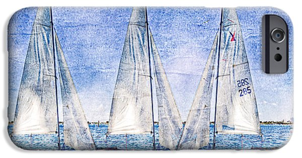 Abstract Seascape iPhone Cases - Into the Blue iPhone Case by Debra and Dave Vanderlaan