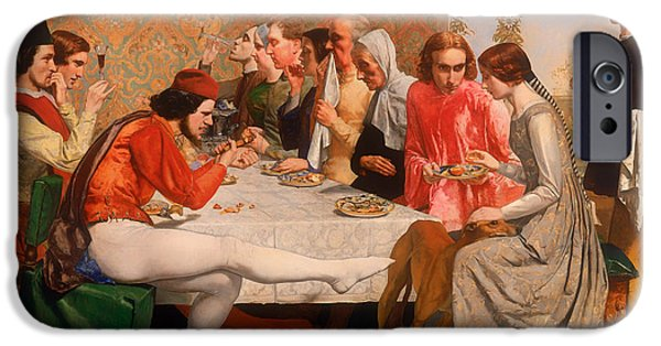 House Pet Paintings iPhone Cases - Isabella iPhone Case by John Everett Millais