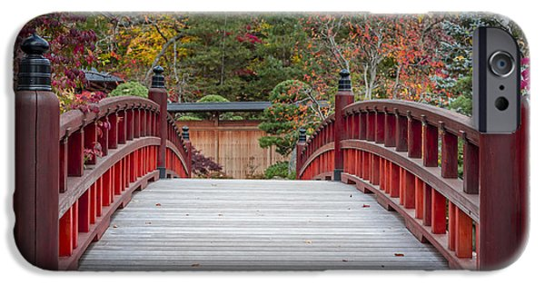 Calm iPhone Cases - Japanese Bridge iPhone Case by Sebastian Musial