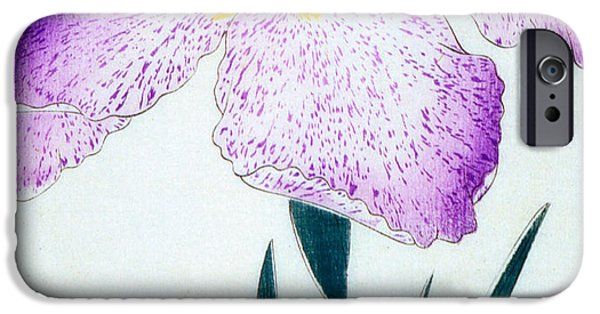 Florals iPhone Cases - Japanese Flower iPhone Case by Japanese School