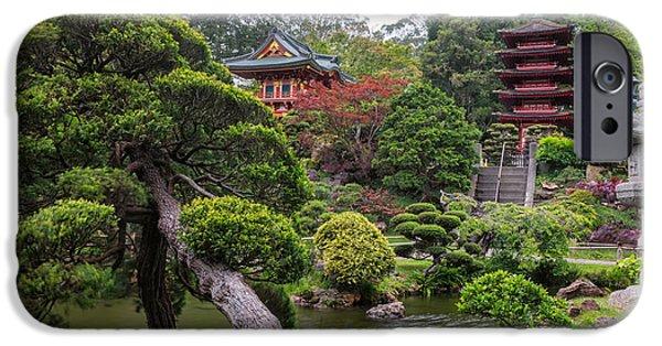 Buddhism iPhone Cases - Japanese Tea Garden - Golden Gate Park iPhone Case by Adam Romanowicz