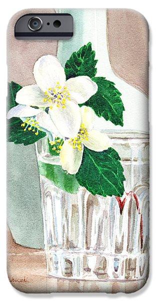 Pollen iPhone Cases - Jasmine iPhone Case by Irina Sztukowski