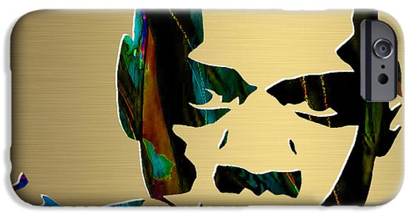 Jay iPhone Cases - Jay Z Gold Series iPhone Case by Marvin Blaine