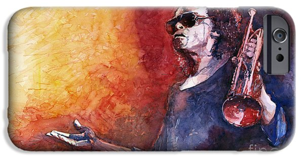Miles Davis iPhone Cases - Jazz Miles Davis iPhone Case by Yuriy Shevchuk