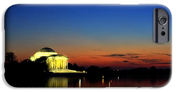 Us Capital Mixed Media iPhone Cases - Jefferson Monument Reflection iPhone Case by Lane Erickson