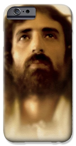 Jesus Face iPhone Cases - Jesus in Glory iPhone Case by Ray Downing