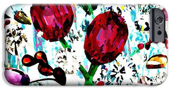 Sarah Loft iPhone Cases - Jewel Bouquet iPhone Case by Sarah Loft