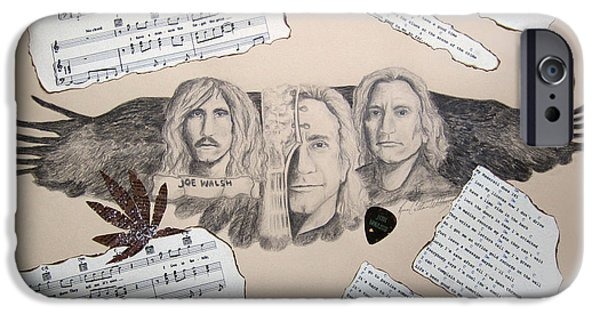 Stratocaster Drawings iPhone Cases - Joe Walsh Good Life iPhone Case by Renee Catherine Wittmann