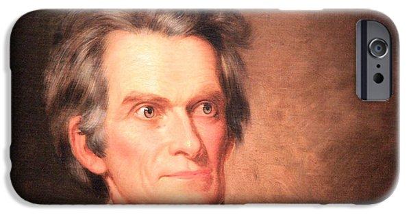 Cora Wandel iPhone Cases - John C. Calhoun -- The South The Poor South  -- 2 iPhone Case by Cora Wandel