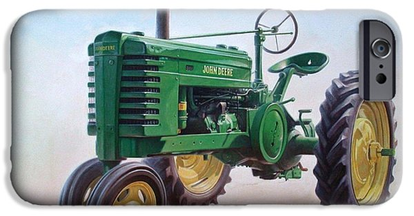 Best Sellers -  - Model iPhone Cases - John Deere Tractor iPhone Case by Hans Droog