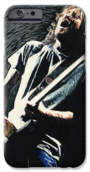 Red Hot Chili Peppers iPhone Cases - John Frusciante iPhone Case by Taylan Soyturk