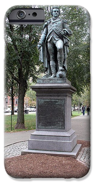 Statue Portrait iPhone Cases - John Glover (1732-1797) iPhone Case by Granger
