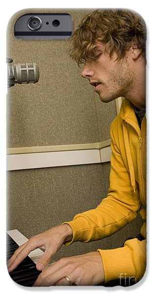 Piano iPhone Cases - Jon McLaughlin iPhone Case by Jason O Watson