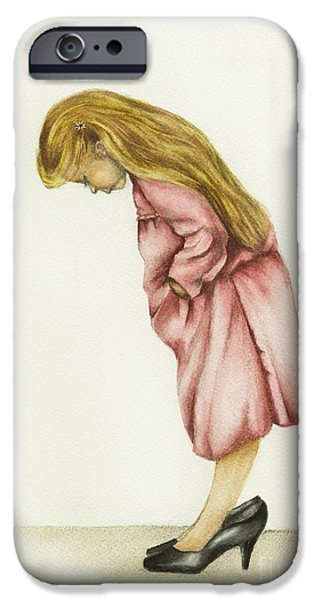 Little Girl iPhone Cases - Just My Size iPhone Case by Nan Wright