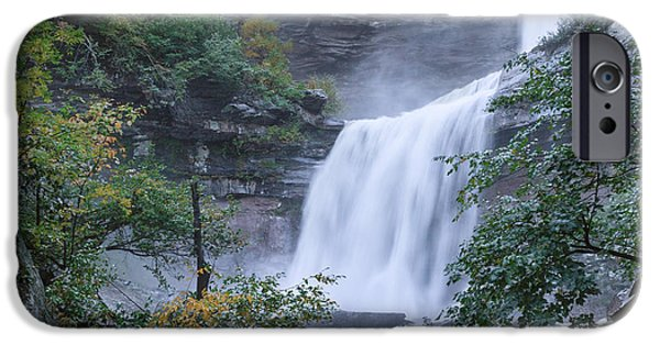 Upstate New York iPhone Cases - Kaaterskill Falls Square iPhone Case by Bill  Wakeley