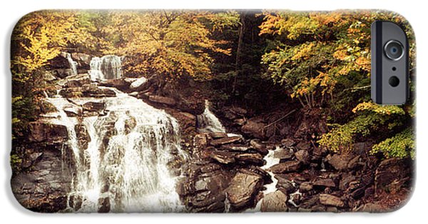 Fall iPhone Cases - Kaaterskill Falls Stream iPhone Case by Panoramic Images