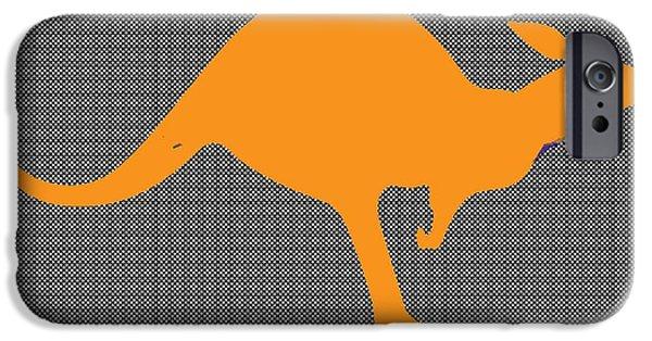 Kangaroo Digital Art iPhone Cases - Kangaroo iPhone Case by Manik