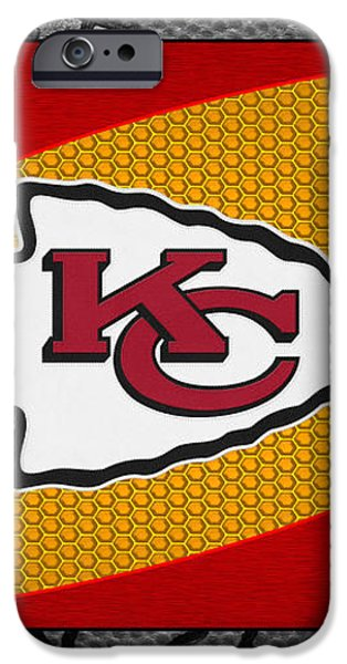 KANSAS CITY CHIEFS iPhone Case by Joe Hamilton