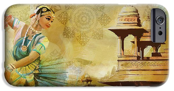 Pakistan iPhone Cases - Kathak Dancer iPhone Case by Catf
