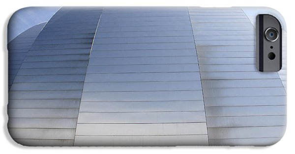 Architecture Digital Art iPhone Cases - Kauffman Center for Performing Arts iPhone Case by Mike McGlothlen