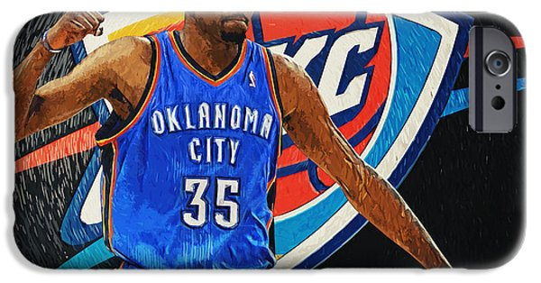 Obama iPhone Cases - Kevin Durant iPhone Case by Taylan Soyturk