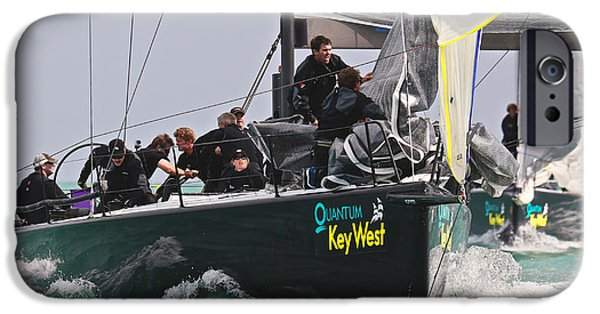 Sailboat Ocean iPhone Cases - Key West Action iPhone Case by Steven Lapkin