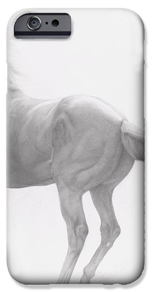 Mammals Drawings iPhone Cases - Kicking Off iPhone Case by Emma Kennaway