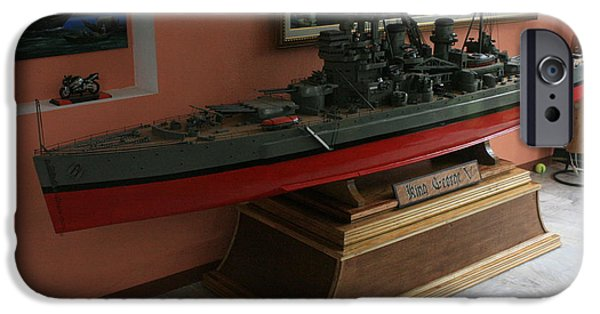 Model Sculptures iPhone Cases - King George V 1943 iPhone Case by Richard John Holden