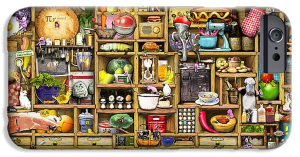 Drawers iPhone Cases - Kitchen Cupboard iPhone Case by Colin Thompson