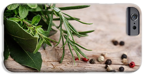 Rusty iPhone Cases - Kitchen Herbs iPhone Case by Nailia Schwarz