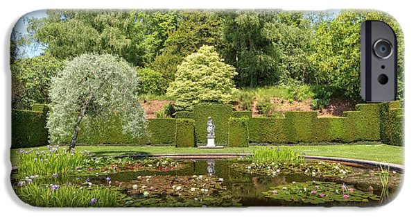 Garden iPhone Cases - Knightshayes Court iPhone Case by Joana Kruse