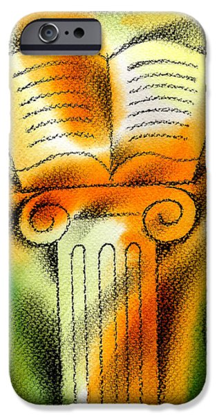 Education Paintings iPhone Cases - Knowledge iPhone Case by Leon Zernitsky