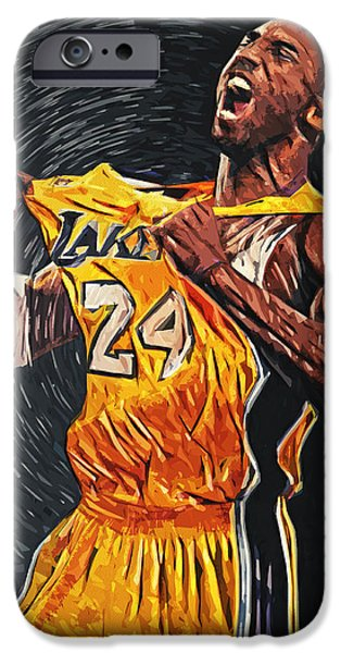 Kobe iPhone Cases - Kobe Bryant iPhone Case by Taylan Soyturk