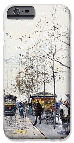 La Madeleine Paris iPhone Case by Eugene Galien-Laloue