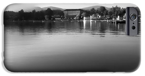 Monotone iPhone Cases - Lake George New York iPhone Case by David Patterson