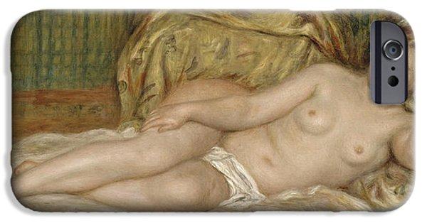1907 Paintings iPhone Cases - Large Nude iPhone Case by Pierre-Auguste Renoir