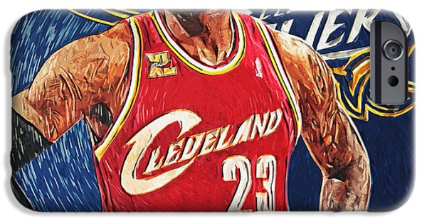 Olympic Gold Medalist iPhone Cases - LeBron James iPhone Case by Taylan Soyturk