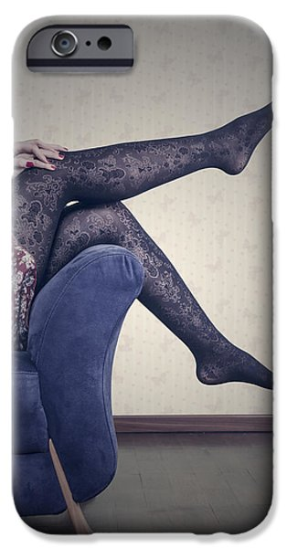 Seductive Photographs iPhone Cases - Legs iPhone Case by Joana Kruse