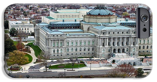 D.c. iPhone Cases - Library of Congress iPhone Case by Mitch Cat