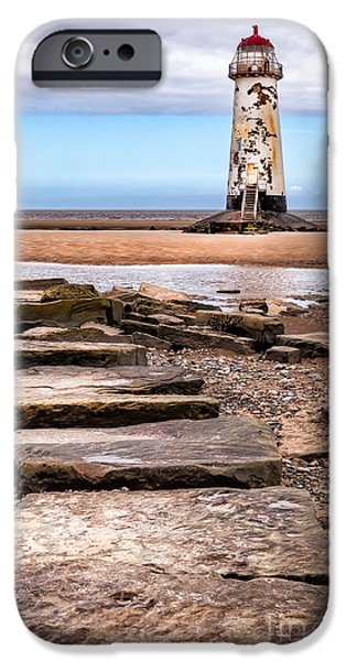 Lighthouse Digital iPhone Cases - Lighthouse Steps iPhone Case by Adrian Evans