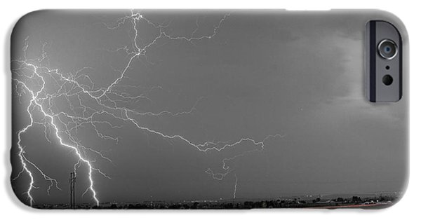 The Lightning Man iPhone Cases - Lightning Thunderstorm DragOn iPhone Case by James BO  Insogna