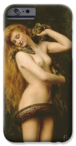 Burmese Python iPhone Cases - Lilith iPhone Case by John Collier