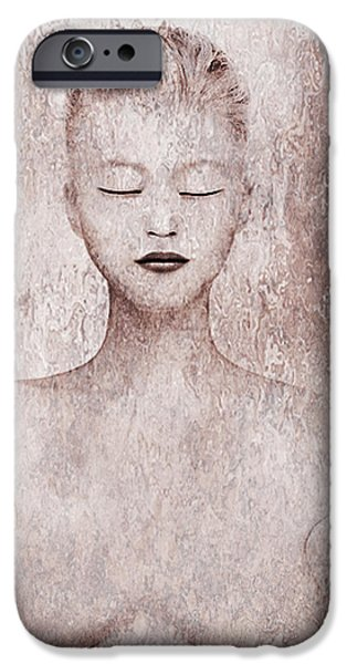 Young Mixed Media iPhone Cases - Listen iPhone Case by Yosi Cupano