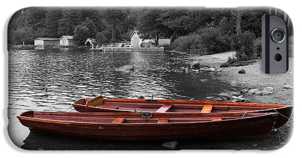 Boat iPhone Cases - 2 Little Boats iPhone Case by Martin Newman