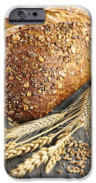Bread iPhone Cases - Loaf of multigrain bread iPhone Case by Elena Elisseeva