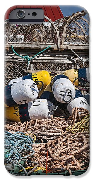Lobster fishing iPhone Case by Elena Elisseeva