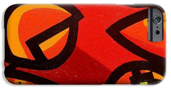 Red Wine Prints iPhone Cases - 2 Lobsters And 4 Lemons iPhone Case by John  Nolan