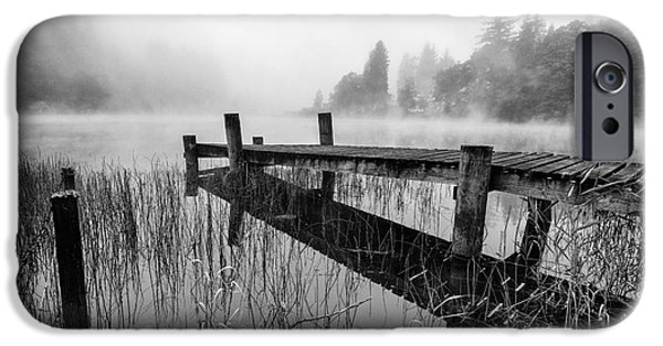 Park Scene iPhone Cases - Loch Ard early mist iPhone Case by John Farnan